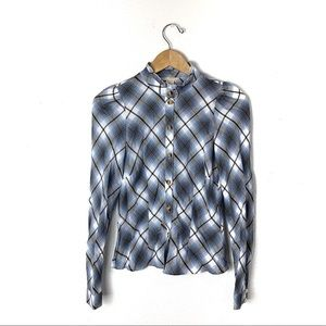 H&M plaid button up blouse 4